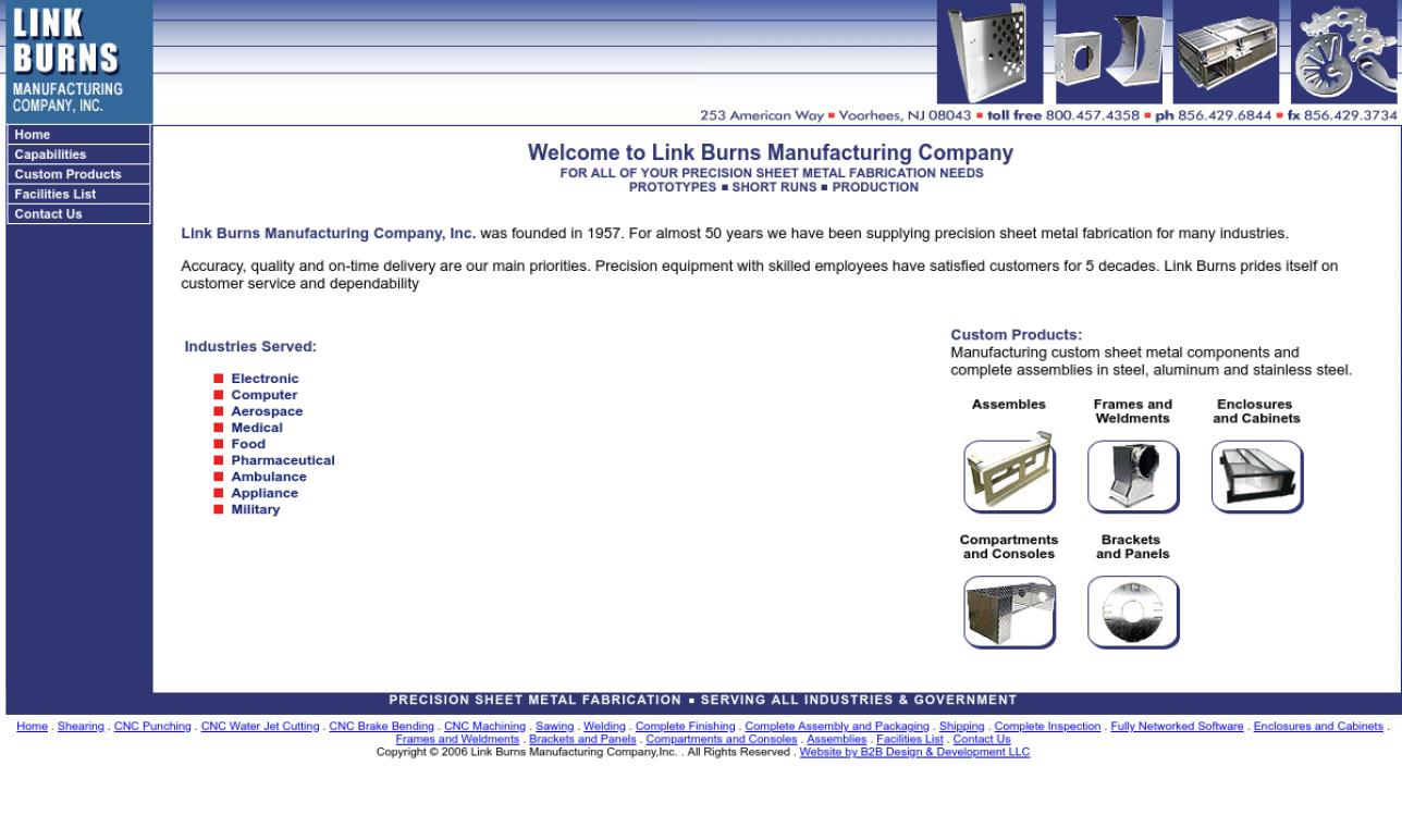 Link Burns Manufacturing Company, Inc.