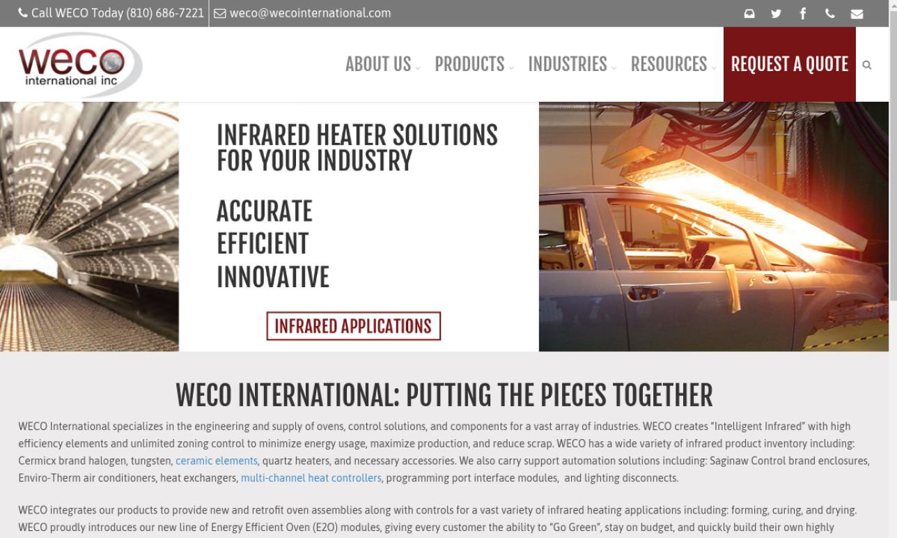 WECO International, Inc.